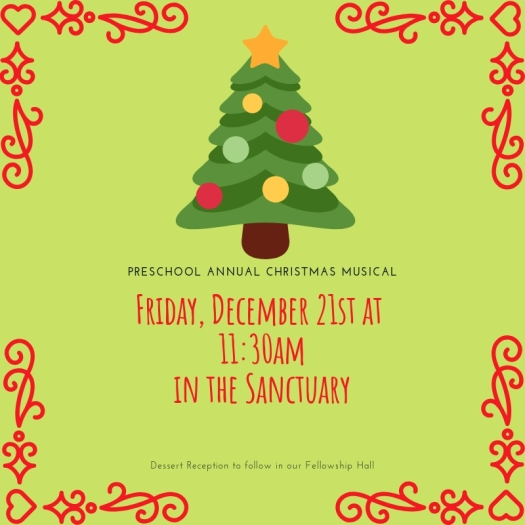 Preschool Annual Christmas musical